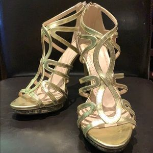 vince camuto skin snake and gold sandals